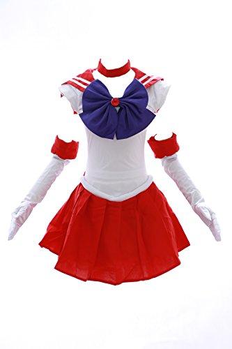 H-6001 Sailor Moon Mars rot weiß Cosplay Kleid dress Kostüm costume Kawaii-Story (Japan Size S) (Sailor Mars Kostüm)