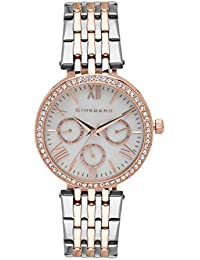 Giordano Analogue Silver Dial Women's Watch -2845-66