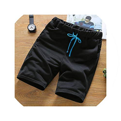 Summer New Cotton Shorts Loose Men's Casual Shorts Waist Shorts Men Plus Size M 3XL,Black,XXXL (Zip-up Hoodie Irish)