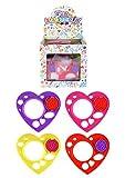 Stelle deinen Kinder Spielzeug Adventskalender selber zusammen Spielsachen Mädchen Junge einzelne kleine Spielware Paket (Herz Schablone)