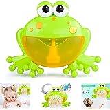 FOONEE Máquina de Burbujas de Baño para Niñ 12 Nursery Rhymes Máquina de Burbujas de Ranas