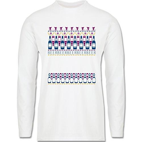 Après Ski - Apres Ski Sweater - Longsleeve / langärmeliges T-Shirt für Herren Weiß