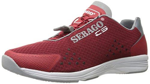 Sebago Herren Cyphon Sea Sport, Textil rot/grau, 45.5 EU