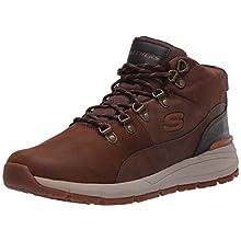 Skechers VOLERO - MERIX, Men's Ankle Boots, Brown (Dark Brown Leather Cdb), 8.5 UK (42.5 EU)