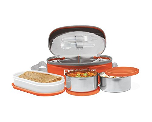 Milton Lunch Box for office Executive Lunch (Orange)