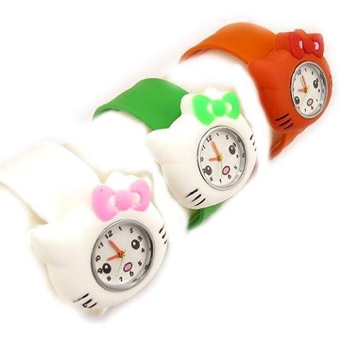 3 vigilanze di schiaffo bianco arancio verde. - Kitty Lily