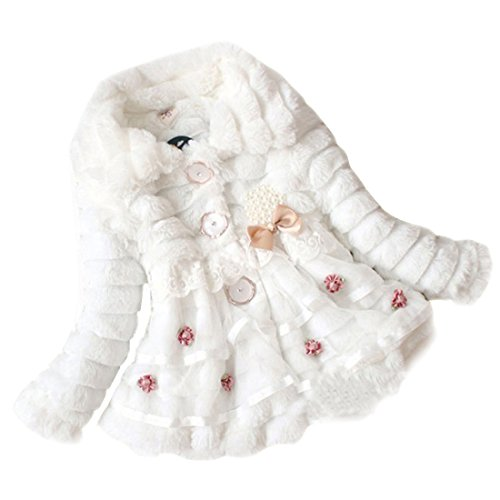 China In Lesen Neue Das Eine (Gaorui neue Mode Babys Mädchen Princess Kunstfell Fleece Jacke Winter Mantel Jacket Hoodie elegant Party Perle Pelzjacket)