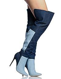 AIWEIYi - botas tipo vaquero mujer