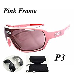 P3 : 4 Lenses 2017 Polarized Cycling Glasses Men Women Outdoor Bike Bicycle Sports Sunglasses