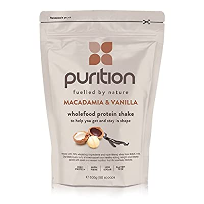Wholefood Protein Shake (500g) Ideal for weight loss & post exercise recovery - 100% natural meal replacement - Breakfast smoothie for men & women - Drink or mix into porridge or yogurt
