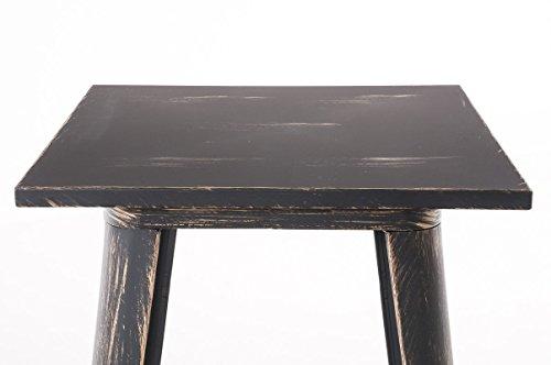 CLP Bartisch LOGAN aus pflegeleichtem Metall I Stehtisch mit Fußstütze I In verschiedenen Farben erhältlich schwarz-gold - 3