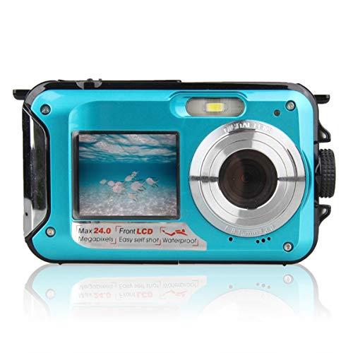 Corneliaa-DE Double Screen Underwater Camera Waterproof Sports Diving Digital Video Camera Underwater Digital Video Camera