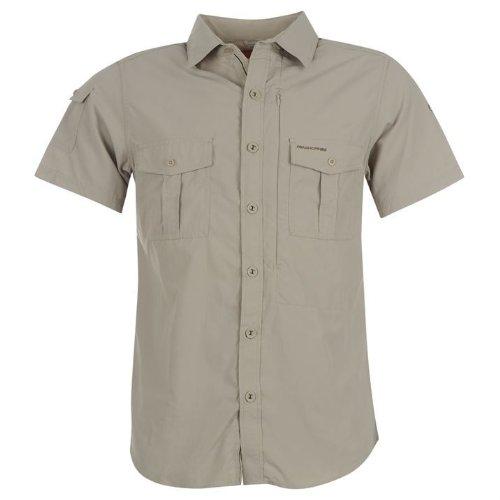 Craghoppers vêtement à manches courtes pour homme NosiLife Chemise boutonnée Beige - Parchment