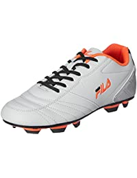Fila Men's Malvalio 2 Grey And Neon Orange Football Boots - 9 UK/India (43 EU)