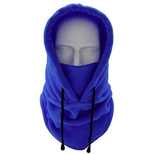 Iufvbgxdh passamontagna multiuso antivento maschera in pile termico cappuccio scaldacollo scaldacollo per sport all'aria aperta cappello per uomini e donne, blu.
