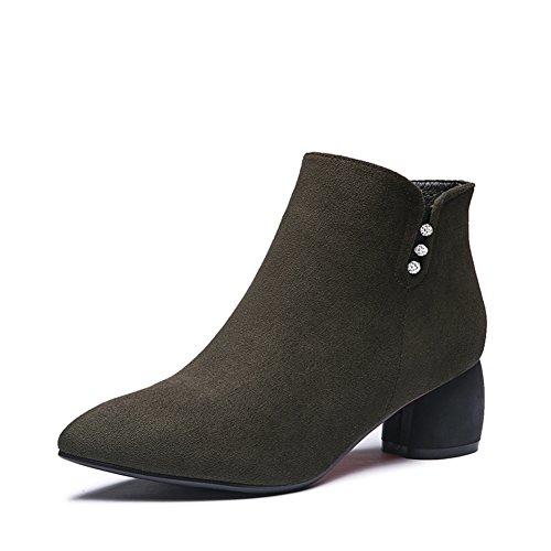 Lady Grace avvio/Scarpe moda grezzo/Scarpe a punta-B Lunghezza piede=23.8CM(9.4Inch)