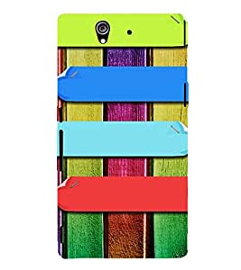 MULTICOLOURED LINES PATTERN 3D Hard Polycarbonate Designer Back Case Cover for Sony Xperia Z :: Sony Xperia Z L36h