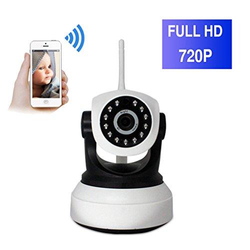 ShengyaoHul Ip-¨¹berwachungskamera, 720P HD Indoor Home Security Systems Drahtlose Kamera, 1 Mp Plug-And-Play-Babyphone Mit Infrarot-Nachtsicht / Fernbedienung / Fernwiedergabe - Security-kameras Infrarot-system