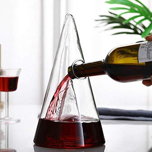 WLOWS Decanter E Aeratore per Vino da 750 Ml con Sofisticato Starburst Che Dettaglia L'elegante Caraffa di Cristallo, Accessori per Il Vino, Regali per Il Vino