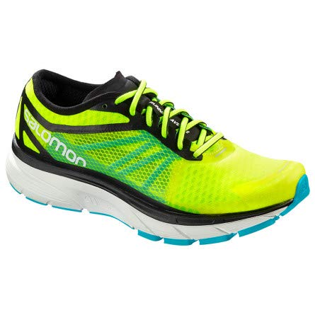 Salomon Sonic RA, Zapatillas de Trail Running para Hombre, Amarillo (Safety Yellow/Black/Bluebird 000), 45 1/3 EU