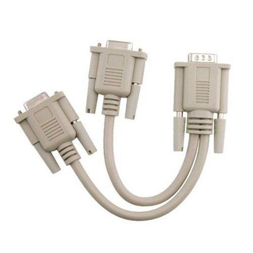 TOOGOO(R) Neu 1 PC auf 2 Monitoren-Verteiler Splitter Kabel fuer VGA Video -