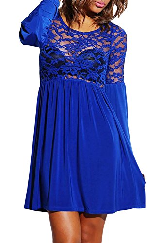 Dissa® Deman Blau SY21725 Cocktail Kleid Blau