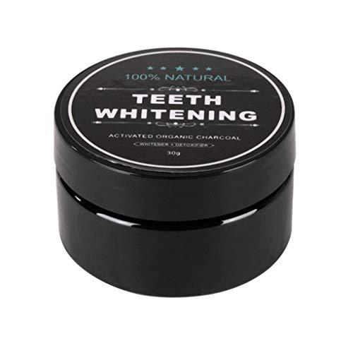 Kongnijiwa 30g Teeth Whitening Skalierung Pulver Mundhygiene Reinigung Premium Aktivierte Bambuskohle Pulver