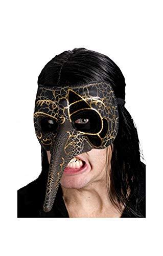 Horror-Shop Venezianische Maske schwarz/Gold
