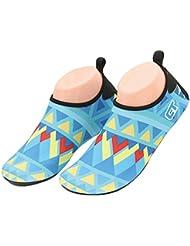 Fortuning's JDS Unisexo traje de buceo de verano antideslizante calcetines de natación zapatos de piel de patrón geométrico botas de buceo con escafandra