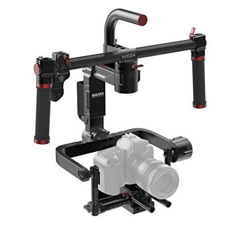 MOZA Lite II Premium Kit 3-Achsen-motorisierte Handheld Gimbal Video-Kamera Stabilisator für spiegellose Kameras und DSLR, Black Magic -