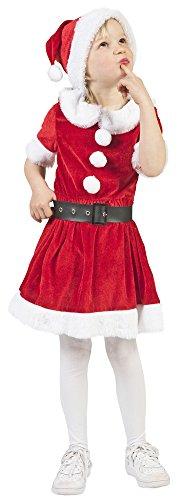 Weihnachtsmädchen Kostüm Carol für Mädchen - Gr. 128 (Santa Claus Kostüme Für Mädchen)