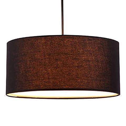 Eastlion 30 * 30 * 18cm Moderne einfache Pendelleuchten Kronleuchter Celling Light mit Flachs Lampenschirm, (Kronleuchter Mit Lampenschirm)