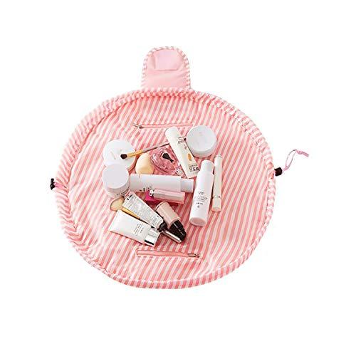 Trousse de Toilette Fille, Sac Cosmétique de Stockage Paresseux, Trousse de Maquillage Cosmétique Grande Taille Portable, Conception de Mode, Extérieu...
