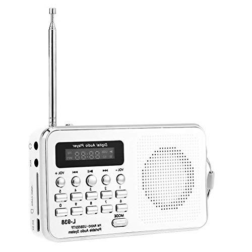 LLDHWX Tragbares Radio Mini-Digital-FM-Radio-Media-Lautsprecher-Plug-in-Karten-Lautsprecher-Musik-Player für Taschenradio-Digital-Media mit überlegenem Empfang und klarem Ton mit LED-Anzeige