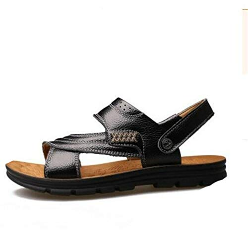 Stylish Mens Boys Summer Retro Beach Casual Leisure Shoes Holiday Leisure Size 9 Black US8-41=UK7-7.5=EUR42=26cm