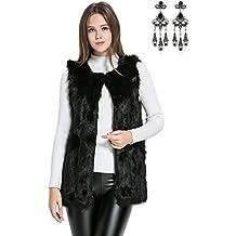 carinacoco Donna Cappotto Invernale Gilet di Pelliccia Elegante Faux Fur  Senza Maniche Giacchetto Giubbotto Giacca Parka 97f270908d9d