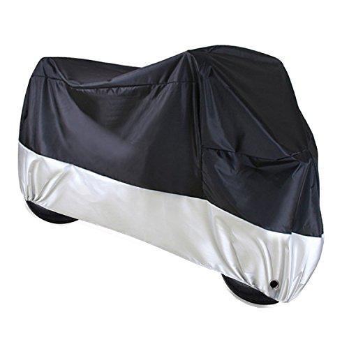 Bermud Moto Garaje Ganz Garaje Lona lona plegable Garaje Protección Cover con funda, Protección UV Resistente al agua polvo Congelar Lluvia y sol de poliéster 210d Talla XXL 265x 105x 125cm