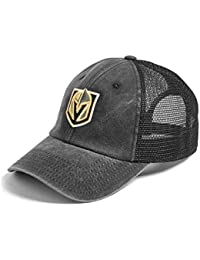 f2f62397b American Needle Vegas Golden Knights Raglan Bones Mesh Back Trucker  Adjustable Strapback Hat