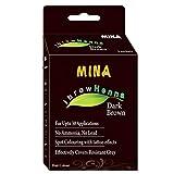Mina ibrow Henna Regular Pack & Brow Tint per sopracciglio colorante (marrone scuro)