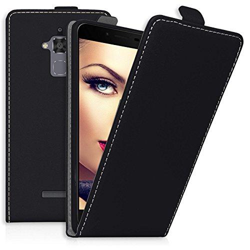 mtb more energy® Flip-Case Tasche für ASUS Zenfone 3 Max (ZC520TL, 5.2'') | schwarz | Kunstleder | Klapp-Cover Hülle Case