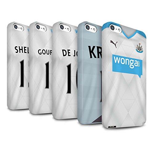 Offiziell Newcastle United FC Hülle / Matte Snap-On Case für Apple iPhone 5/5S / Pack 29pcs Muster / NUFC Trikot Away 15/16 Kollektion Pack 29pcs
