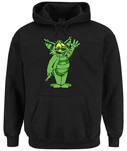 Green Monster Hooded-Sweater Black Certified Freak-L (Mickey Und Pluto Halloween)