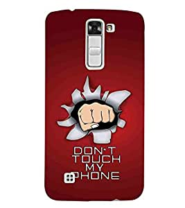 For LG K3 :: LG K3 Dual K100 LS450 don't touch my phone, red background, good quotes Designer Printed High Quality Smooth Matte Protective Mobile Case Back Pouch Cover by APEX
