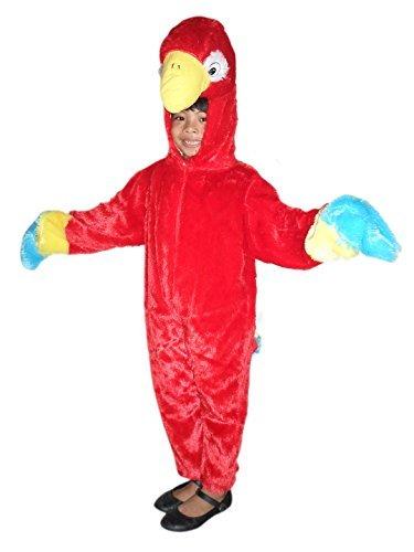 Maskottchen Billig Tiger Kostüm - Ikumaal Papageien-Kostüm, F32 Gr. 98-104, für Kinder, Papagei Papageien-Kostüme für Fasching Karneval, Klein-Kinder Karnevalskostüme, Kinder-Faschingskostüme, Geburtstags-Geschenk