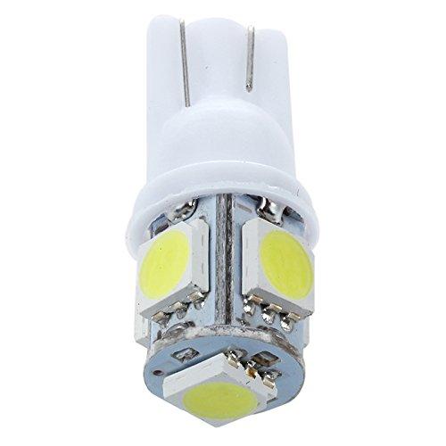 SODIAL(R)10 pcs W5W T10 5-SMD blanc 5050 puce LED voiture ampoule interne
