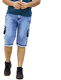 10f137f181 Denim Men's Shorts: Buy Denim Men's Shorts online at best prices in ...