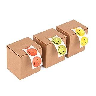 ewtshop® 3 x 100 Smiley Lachgesichter Aufkleber Sticker in den Ampelfarben, rot, grün, gelb, 2 cm Durchmesser