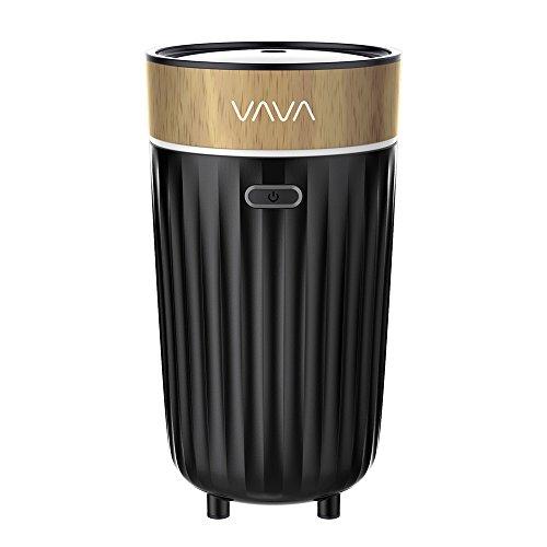 Foto de VAVA difusor aromático para portavasos de coche,–Enfriador de aire portátil (alimentado por USB (DC 5V 1A, doble modos de niebla, Design de aire atraviesa, auto-extinction, PP & sin BPA)