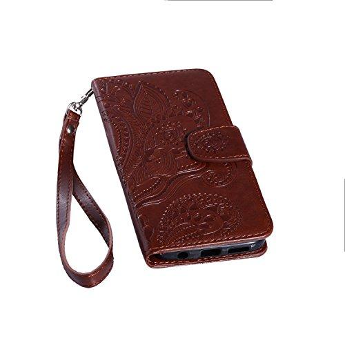 Leather Case Cover Custodia per Samsung Galaxy S7 ,Ecoway Caso / copertura / telefono / (Vetro Peacock)