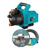 GARDENA 01717-61 Gartenpumpe 3000/4 SET 600 W, türkis, schwarz, Orange